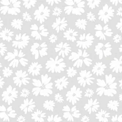 Doodle Blossoms Lt Grey 9DB 1