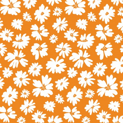 Doodle Blossoms - Wildflowers - Orange 9db-2