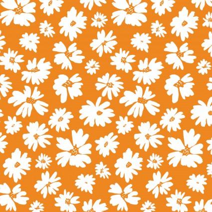 Doodle Blossoms Orange