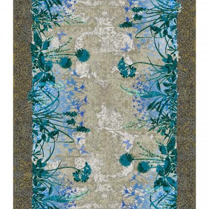 Dreamscapes I - 1JYD-2M - Floral Border - Blue