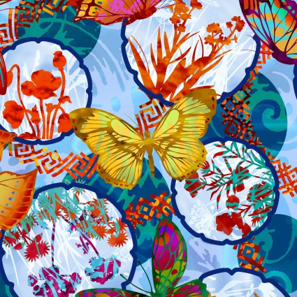 Dreamscapes II- Butterflies & flowers
