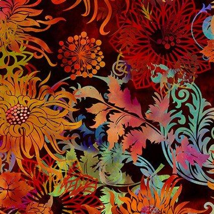 ITB Floragraphix V Floral/black background