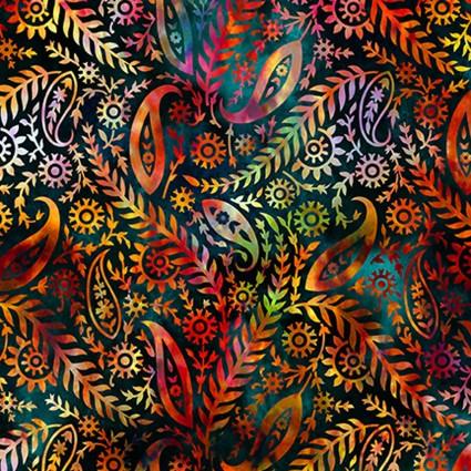 5FGE-1 Floragraphix V Paisley - Red