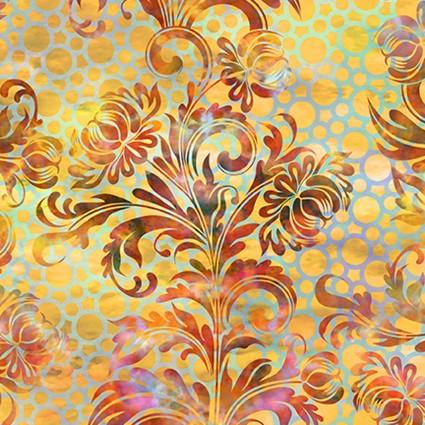 Floragraphix V Dotted Flourish Orange