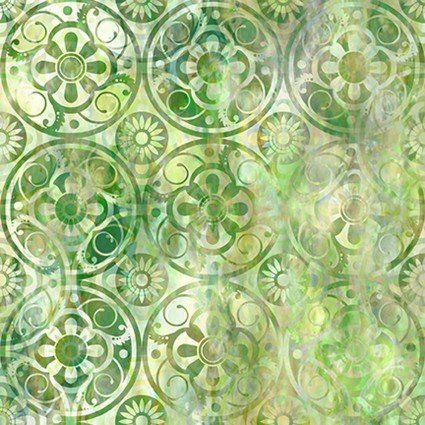 Floragraphix V Medallions Green