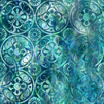 Floragraphix V Medallions Blue