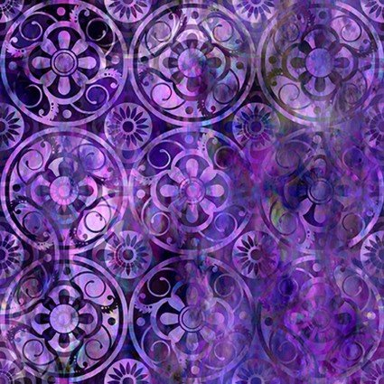 In the Beginning Floragraphix V 9FGE-4 Purple Medallions