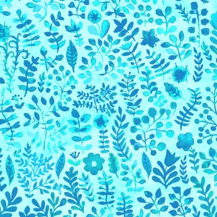 Floral Menagerie Floral Blue