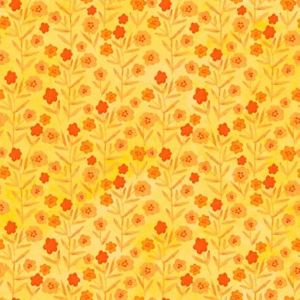 Floral Menagerie Floral Yellow-Orange