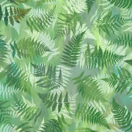 Garden of Dreams - Ferns - Spring green