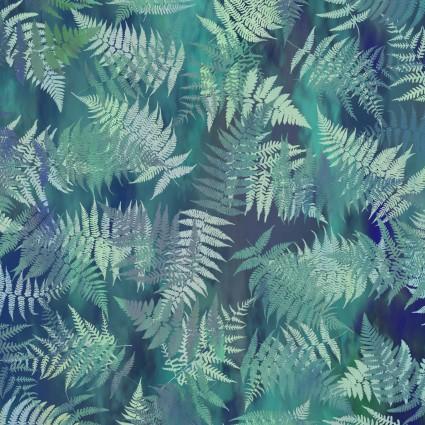 Garden of Dreams - Ferns - Dusky Teal