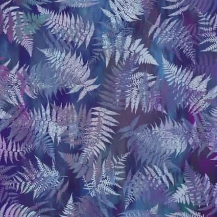 Garden of Dreams - Ferns- Deep purple