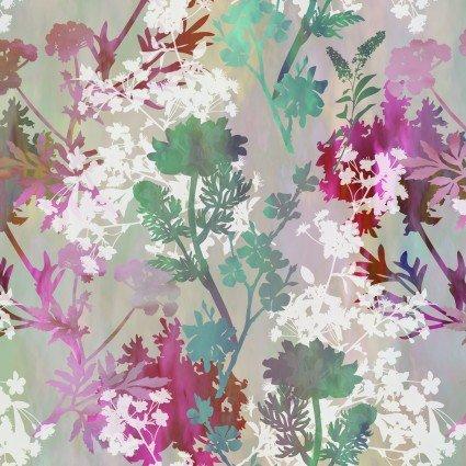 Garden of Dreams- springs - Teal/pink meadow