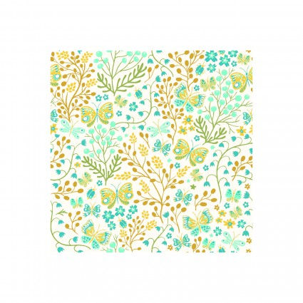 GardenDelights ii - Butterflies- Gold
