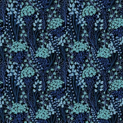 prairie flowers in blue