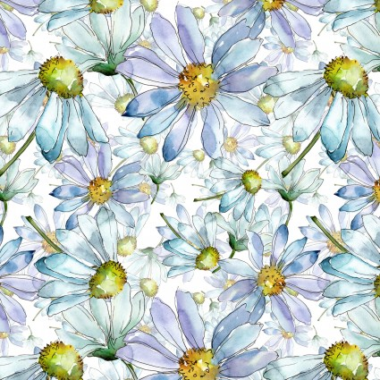 The Leah Collection - daisy blue floral