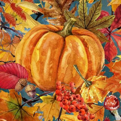 In The Beginning - Our Autumn Friends 3OAF 1 Pumpkin Patch Gray
