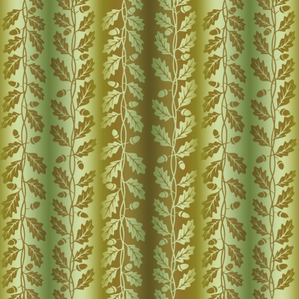 Our Autumn Friends Vine Stripe Olive Green