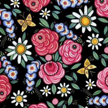 Plenty-Roses black- 4JPK1