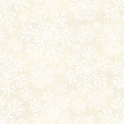 A Poinsettia Winter-Snowflakes-Cream
