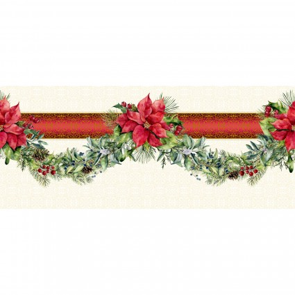 A Poinsettia Winter Border Print