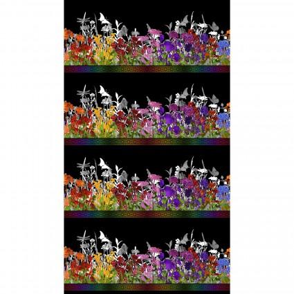 Rainbow of Jewels Border Stripe