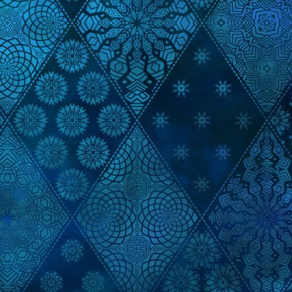 Seasons Diamond Pattern Blue