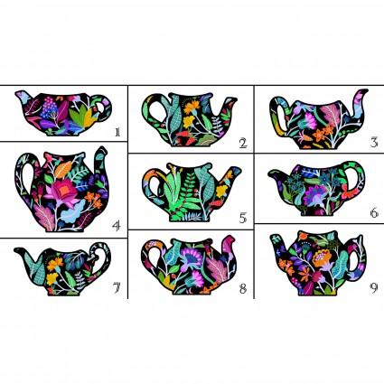 Teapot Sampler Panel