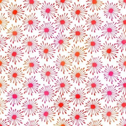 burst pink white