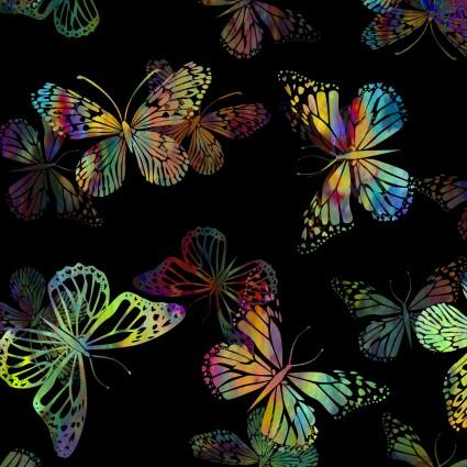Urban Jungle-Butterflies on Black