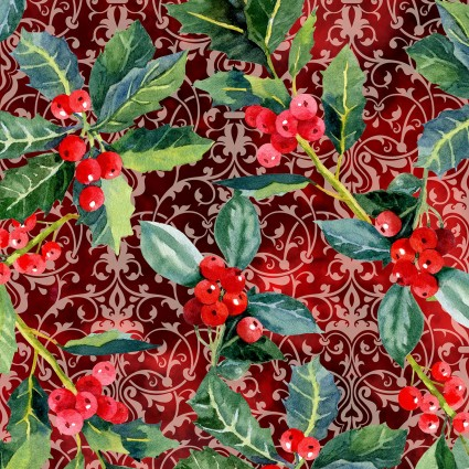 Winter Around The World - Holly - Red
