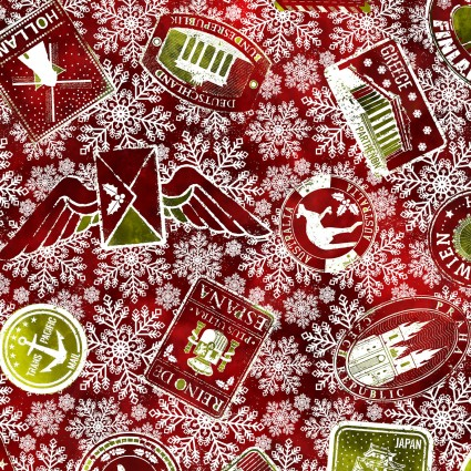 Winter Around The World - Stamps - Red