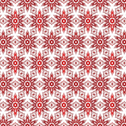 Winter Around The World - Snowflakes - Red
