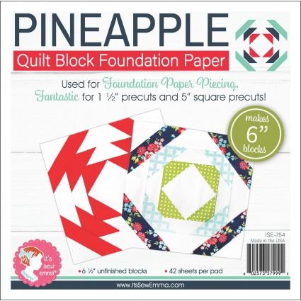 Pineapple Quilt Block Foundation Paper- 6 Blocks