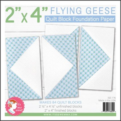 2 x 4 Flying Geese Quilt Block Foundation Paper