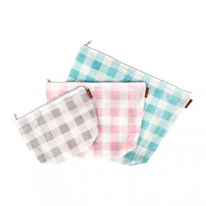Gingham on the Go 3 Piece Project Bag Set
