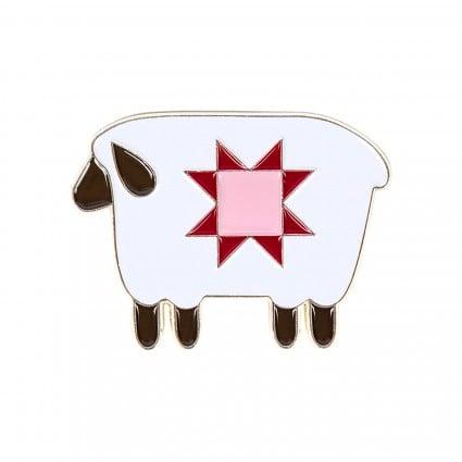Prim Sheep Enamel Needle Minder by Lori Holt