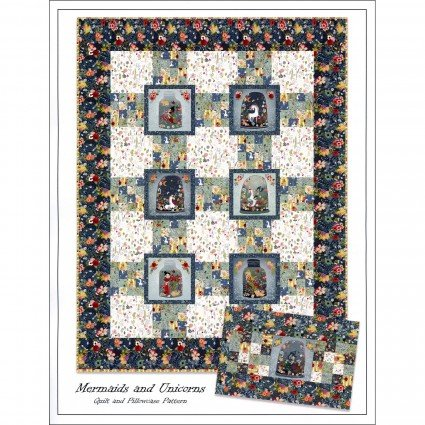 Mermaids and Unicorns Quilt Pattern -- ITBMERP