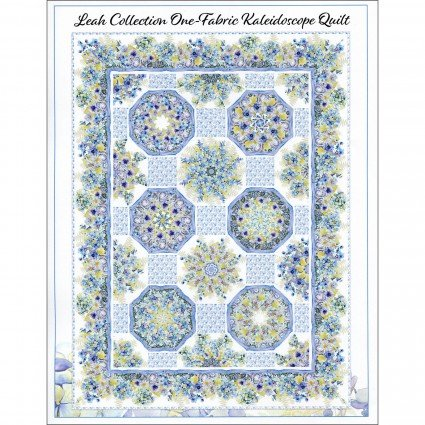 In The Beginning The Leah Collection - One Fabric Kaleidoscope Quilt Pattern ITBTLCKP