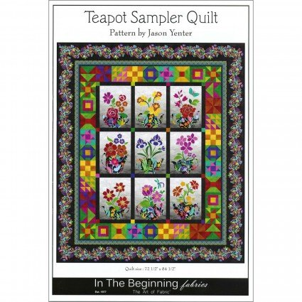 Teapot Sampler Quilt Kit
