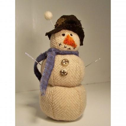 Winterized Snowman Pincushion Kit