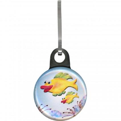 Zipper Pull Charm Fish