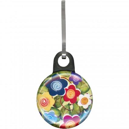 Zipper Pull Charm Floral