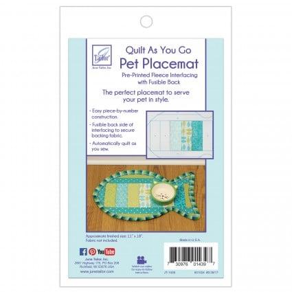 Pre-Printed Fleece Interfacing Pet Placemat Fish