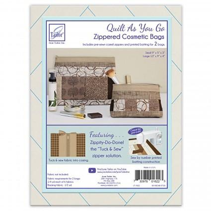 QAYG-Zippity-Do-Done Cosmetic Bag-Tan