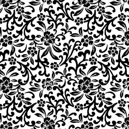 Better Basics (White/Black) Scroll Floral White/Black