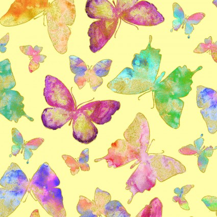 WATERCOLOR WISHES METALLIC - Butterfly Wishes Yellow
