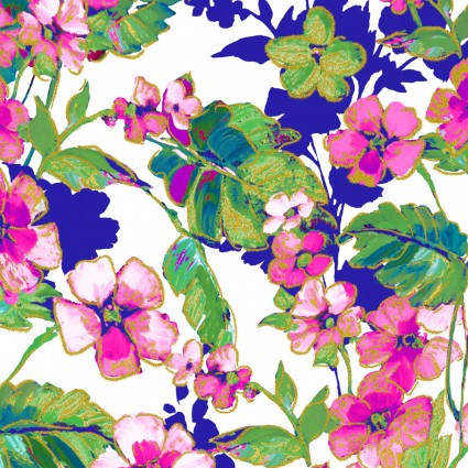 WATERCOLOR WISHES METALLIC - Floral Dance White