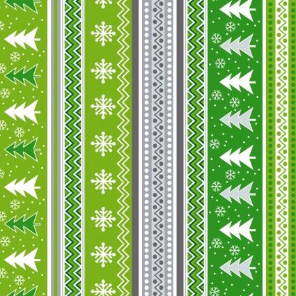 Holiday Sweater Stripe - Gray/Green