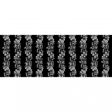 Shimmer & Shine Pearl KAS9707P-11 Shimmery Flower Stripe Silver